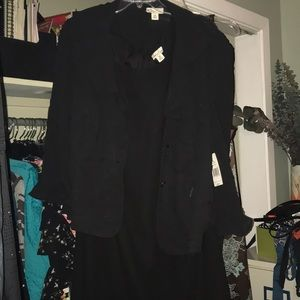 Kim Rogers Woman LBD with Ruffled Jacket, 22W